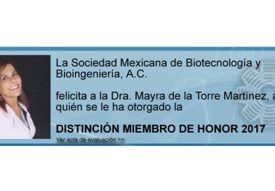 La Sociedad Mexicana de Biotecnología y Bioingeniería distingue a investigadora del CIAD
